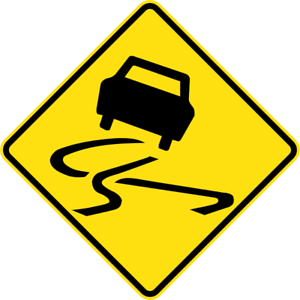 SLIPPERY-ROAD-W5-20-SELF-ADHESIVE-STICKER-DECAL-SIGN-HEALTH-amp-SAFETY