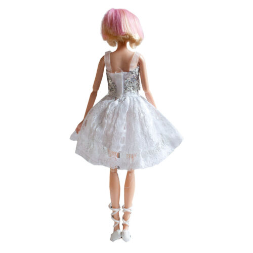Handmade Fashion Dress White Lace Dress Mini Gown For 11.5 inches Doll