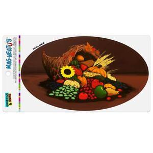 Cornucopia-Thanksgiving-Holiday-Autumn-Fall-Car-Euro-Oval-Magnet