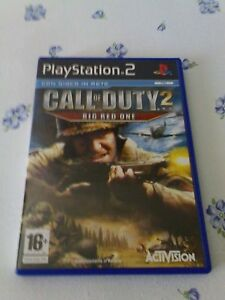 CALL-OF-DUTY-2-BIG-RED-ONE-PS2-PLAYSTATION-2-PRIMA-STAMPA-EDIZIONE-ITALIANA