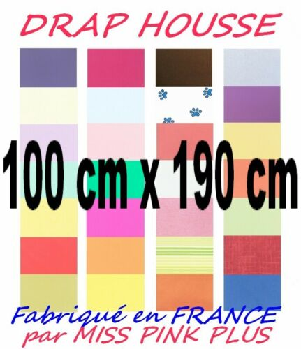 Fitted sheet 100x190 25 cm hat uni 100 x 190//15 choice of colours