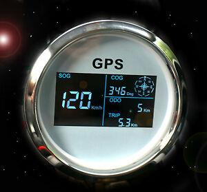 gps tachometer tacho geschwindigkeitsmesser sumlog digital f r boot yacht 85mm w ebay. Black Bedroom Furniture Sets. Home Design Ideas