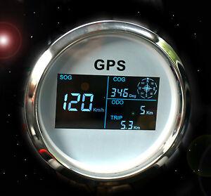 GPS Tachometer Tacho Geschwindigkeitsmesser Sumlog Digital für Boot Yacht 85mm W