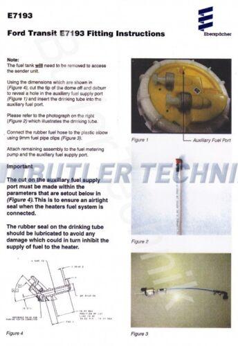 Post 2016 Fuel Tank Kit Webasto Eberspacher Heater Ford Transit Mercedes Vito Vehicle Parts Accessories Motorhome Parts Accessories