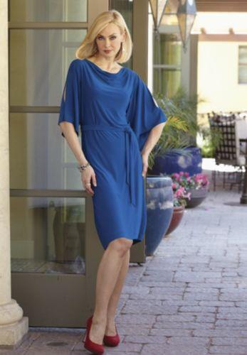NEW WOMENS SIZE XL COBALT BLUE EMMANI SHIFT DRESS by MIDNIGHT VELVET
