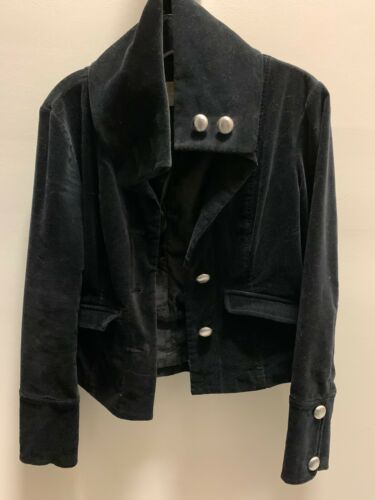Michael Kors Military Style Velvet Jacket