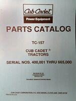 Ih Cub 149 Cadet Lawn Garden Tractor Parts Manual 42p Riding Mower International