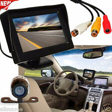 170° 4.3''LCD Car Rear View Backup Monitor+Wireless Parking Night Vision Camera