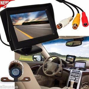 170-4-3-LCD-Auto-Rueckfahr-Backup-Monitor-Kabelloses-Einparkhilfe