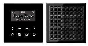 Jung Radio mit Display Set Mono RAD LS 918 SW (1er)