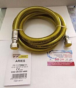 Tubo Flessibile Per Gas Cucina Piano Cottura In Acciaio Inox 1 Mt 1