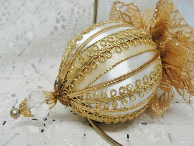 Handmade Christmas Tree Ornament Glorious Gold Bows & Trims Texas Made