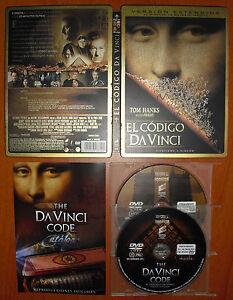 El-Codigo-Da-Vinci-Version-Extendida-Steelbook-2-DVD-039-s-Tom-Hanks-Audrey-Tautou