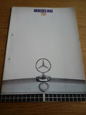 MERCEDES BENZ  250 CAR BROCHURE JULY 1968  jm