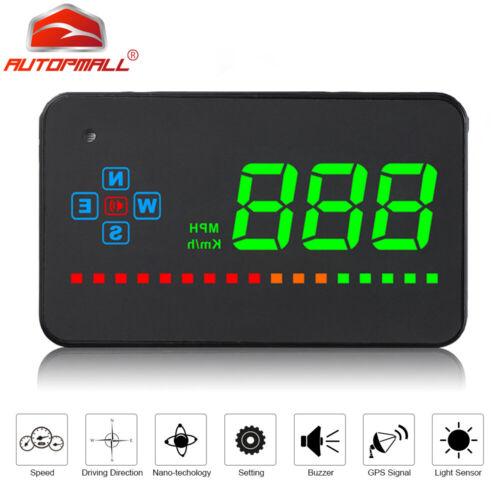 Car Digital GPS Speedometer Head Up Display Auto Windshield  Warning Alarm HUD
