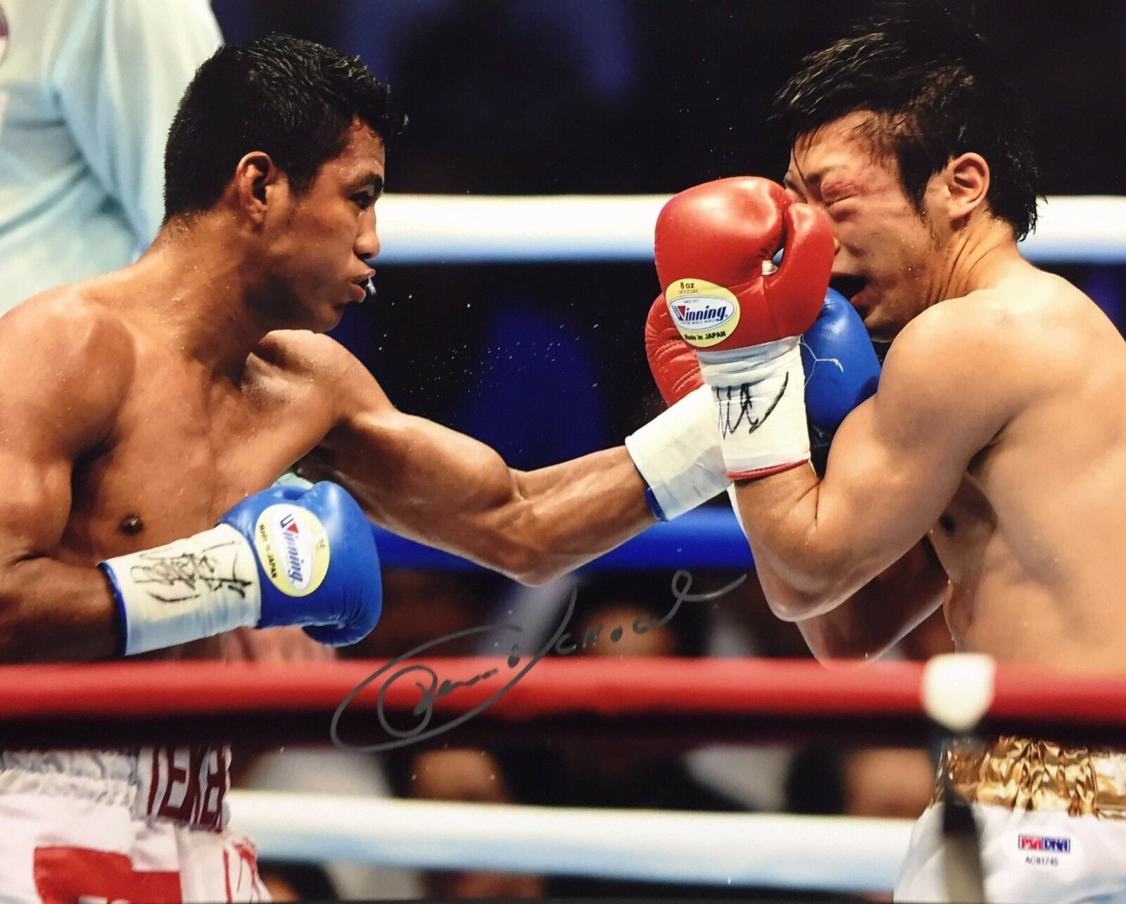 Roman 'Chocolatito' Gonzalez Signed 11x14 Boxing Photo PSA AC81745