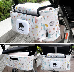 Hanging-Bag-Stroller-Accessory-Nylon-Bottle-Organizer-Baby-Carriage-Storage-Bag