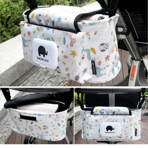 Hanging Bag Stroller Accessory Nylon Bottle Organizer Baby Carriage Storage Bag#