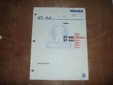 Wacker Neuson Rt 560 Roller Trench Owner Operator Maintenance Manual 7642