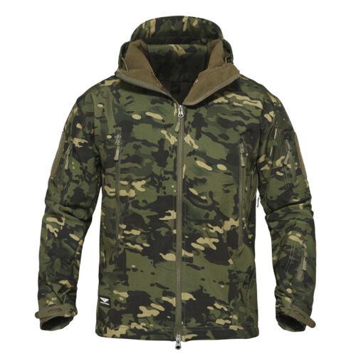 Windbreaker Herren SoftShell Jacke Coats Waterproof Army Tactical Jacket Hooded