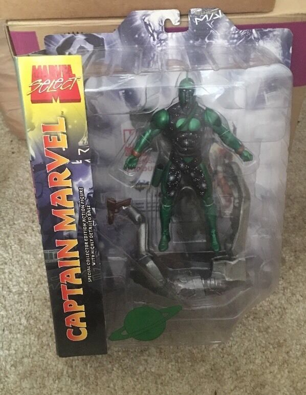 MARVEL SELECT LEGENDS CAPTAIN MARVEL KREE GREEN VARIANT FIGURE GENIS VELL RARE