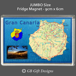 Map Of Spain Gran Canaria.Details About Gran Canaria Map Jumbo Fridge Magnet Holiday Souvenir Spain