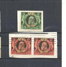 Bayern 1911, Michelnummern: 92 - 93 A o, gestempelt o, Katalogwert € 10,00