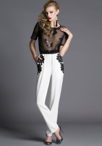 Jelen Bin Drai Tappered Pants with Lace Detail Size 42
