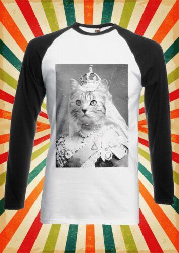 Cat Queen Kitten Meow Funny Men Women Long Short Sleeve Baseball T Shirt 1042