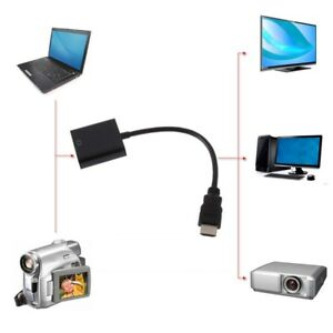 HDMI-Male-To-VGA-RGB-Female-HDMI-To-VGA-Video-Converter-Adapter-With-Cable-Parts
