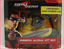 Spy Gear Covert MISSION ALPHA Kit 2.0 - 4 TOOLS Night Goggle Recording Pen ALARM