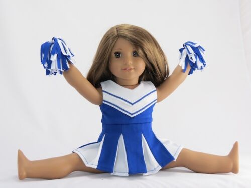 "Doll Clothes 18/"" Blue Cheerleader Outfit Fits American Girl Dolls"