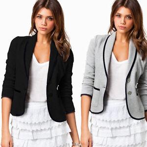 Womens-Crop-Short-OL-Jacket-Tops-Coat-Slim-Fit-Casual-Long-Sleeve-Button-Blazer