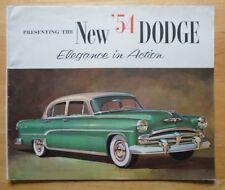DODGE Royal V8 Coronet V8 V6 orig 1954 USA Mkt sales brochure