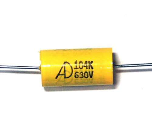Lot de 25 condensateurs axiaux en polypropyl/ène m/étallis/é 630 V /± 10/%