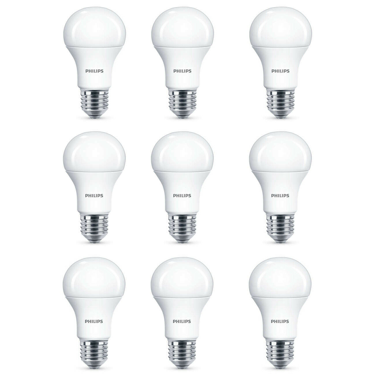 9x Philips LED Frosted e27 100w cálido blanco edison screw light bulbs lamp 1521lm