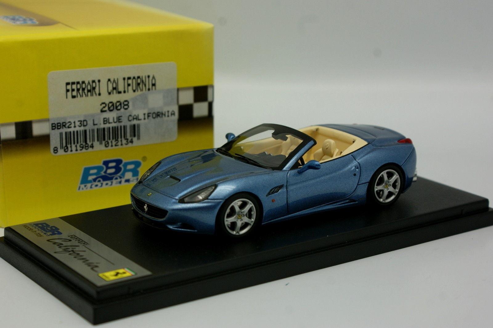 BBR 1 43 - Ferrari California 2008 bluee