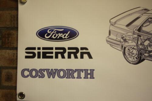 Ford Sierra Sapphire Rs Cosworth Large PVC Work Shop Bannière Garage Show