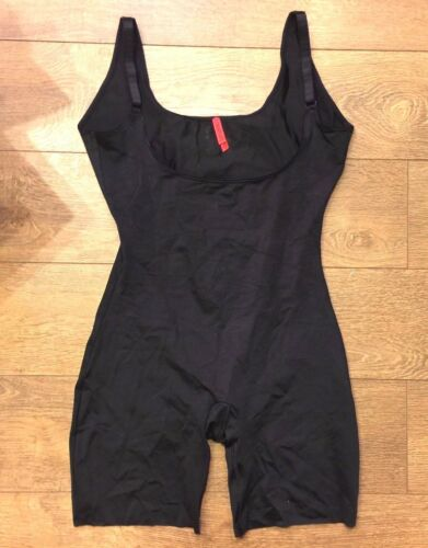 SPANX Slimplicity 991 OPEN BUST BODYSUIT BLACK sz M MEDIUM NWOT