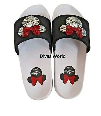 Mickey /& Minnie Mouse Sliders Flip Flops Ladies Women/'s Primark Shoes Summer