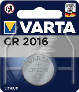 VARTA CR2016 Bouton Lithium 3V Piles - Blister - Date 2030