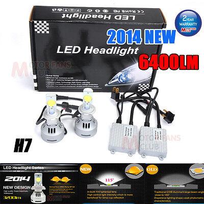 72w 6400lm H7 Cree LED Headlight Conversion Kit Lamp Bulb Super Bright!