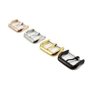 Uhrenarmband-Schnalle-Edelstahl-poliert-Teile-10-12-14-16-18-20-22m-AB