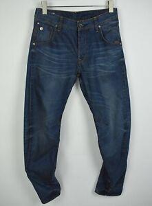 G-star-Raw-Arc-3D-Affusolato-Uomo-W29-L32-Contorto-Blu-Whisker-Wash-Jeans-21772
