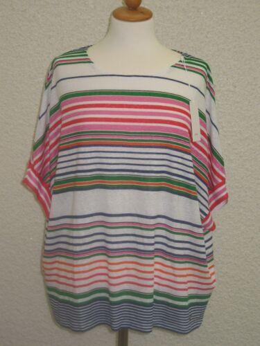 Shirt Leinen kurzarm angeschnitten mit  Streifendruck UVP 79,95€ Neuware BRAX T