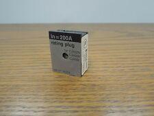 Merlin Gerin 36201 200A Rating Plug for CJ 400A Frame Breaker Used