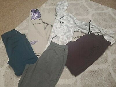 Polinizador Individualidad Ingenieria  Lot Of 5 American Eagle under armor Mens Jogger Pants hoodies Medium | eBay