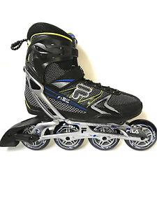 Fila-Plume-black-blue-lime-Magnesium-Freizeit-Fitness-Inliner-Skates-071-Gr-42