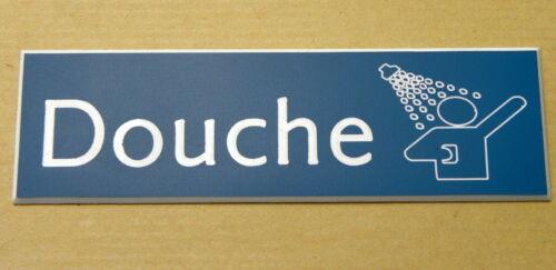 """plaque gravée /""""DOUCHE/"""" signalétique épaisseur 1,6 mm format 29x100 mm"""