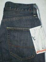 Bullhead Straight Leg Denim Jeans Boys Size 26 X 28 Dark